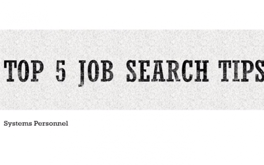 5 Job Search Tips